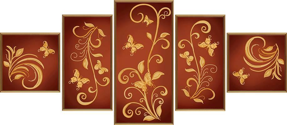 Схема для вышивки бисером Цветочный шлейф 1a68332322aff
