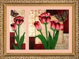 Набор для вышивки бисером Цветы со скидкой