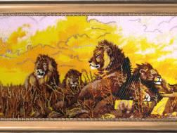 Набор для вышивки бисером Львы Скидка