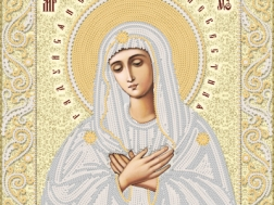 изображение: икона для вышивки бисером Умиление