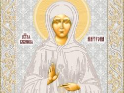 изображение: икона для вышивки бисером Матрона Московская