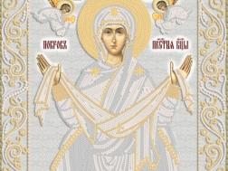 изображение: икона для вышивки бисером Покров