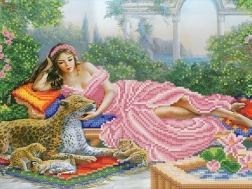 фото: картина для вышивки бисером девушка