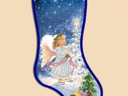 фото: новогодний сапожок для вышивки бисером