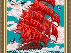 фото: картина для вышивки бисером, Алые паруса, ТМ Арт Соло