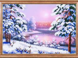 фото: картина для вышивки бисером Магия канвы Зимний пейзаж