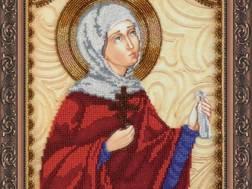 Изображение: икона для вышивки бисером на холсте, Св. Фаина