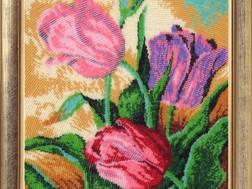 Фото картины для вышивания бисером с полной зашивкой Тюльпаны