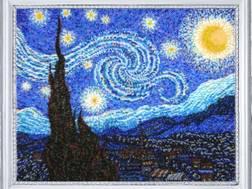 Фото картины для вышивания бисером в круговой технике Лунная ночь