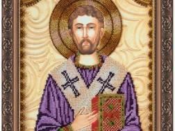 Изображение: икона для вышивки бисером на холсте, Св. Лев