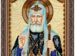 Изображение: икона для вышивки бисером на холсте, Св. Тихон