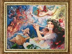 фото: картина для вышивки бисером Мелодия вселенной