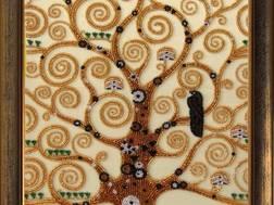 фото: картина для вышивки бисером по мотивам Густава Климта Дерево Жизни