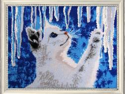 фото: картина для вышивки бисером Котенок