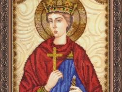 Изображение: икона для вышивки бисером на холсте, Св. Эдуард