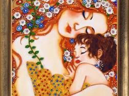 фото: картина для вышивки бисером по мотивам Густава Климта Мать и дитя