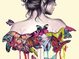 фото: картина в технике папертоль, Девушка
