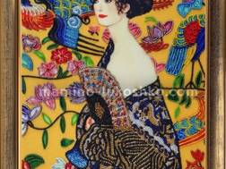 фото: картина для вышивки бисером по мотивам Густава Климта