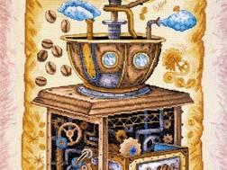 фото: набор для вышивки крестом Кофе в зернах