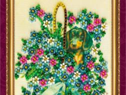 фото: открытка для вышивки бисером Абрис Арт Поздравляю