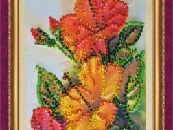фото: открытка для вышивки бисером Абрис Арт с 8 Марта