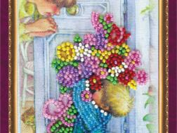 фото: открытка для вышивки бисером Абрис Арт Маме