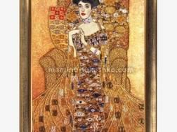 фото: картина для вышивки бисером по мотивам Густава Климта Золотая Адель