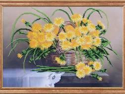 фото: картина для вышивки бисером Магия канвы Одуванчики