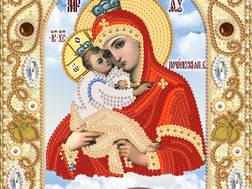 изображение: икона для вышивки бисером, Почаевская