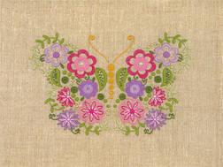 фото: набор для вышивки нитками в технике декоративные швы, бабочка