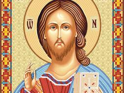 изображение: икона для вышивки бисером Господь Вседержитель