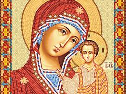 изображение: икона для вышивки бисером Богородица Казанская