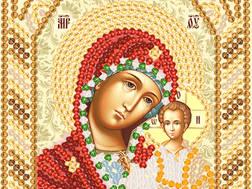 изображение: икона для вышивки бисером маленького формата Богородица Казанская