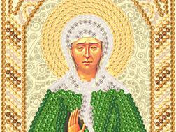 изображение: икона для вышивки бисером маленького формата Матрона Московская