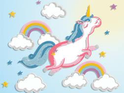 фото: картина для вышивки бисером Единорог в облаках