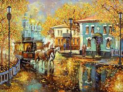 фото: картина для вышивки бисером Старый город