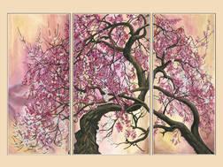 фото: модульная картина для вышивки бисером Сакура