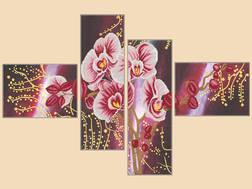 фото: модульная картина для вышивки бисером Орхидея