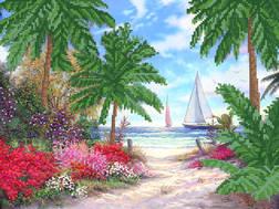 фото: картина для вышивки бисером Морское побережье