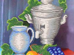 фото: картина для вышивки бисером Натюрморт с самоваром
