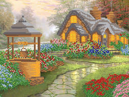 фото: картина для вышивки бисером Уютный домик