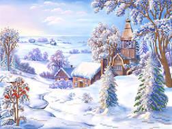 фото: картина для вышивки бисером со скидкой Зима