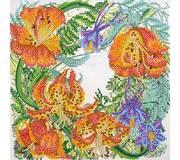Схема для вышивки бисером Дикая лилия