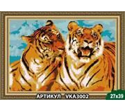 Схема для вышивки бисером Тигры