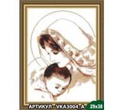Схема для вышивки бисером Дева Мария с младенцем