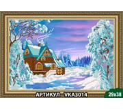 Схема для вышивки бисером Зимний домик