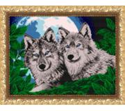 Схема для вышивки бисером Волки лунной ночью