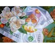 Схема для вышивки бисером Цветущий персик