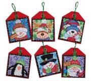 Набор для вышивки крестом Рождественские украшения. Приятели