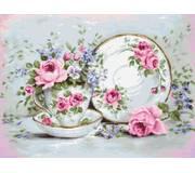Набор для вышивки гобелена Трио и цветы